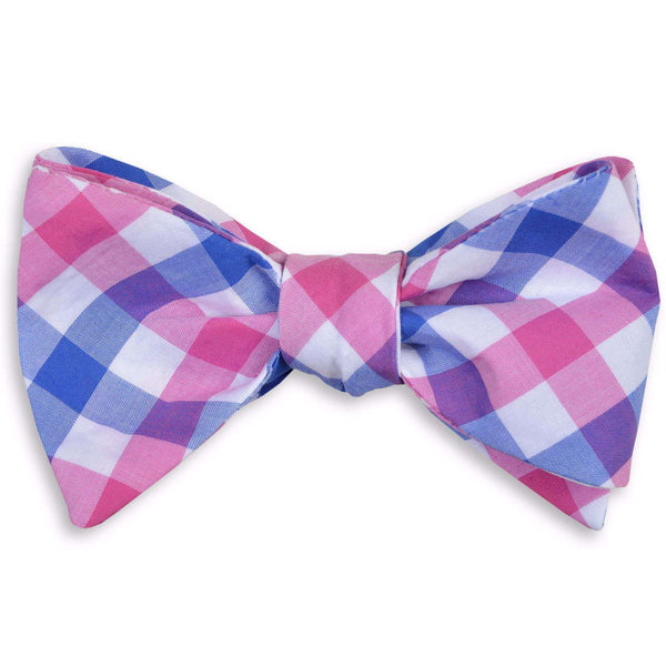 Battery Check Bow Tie in Pink by High Cotton