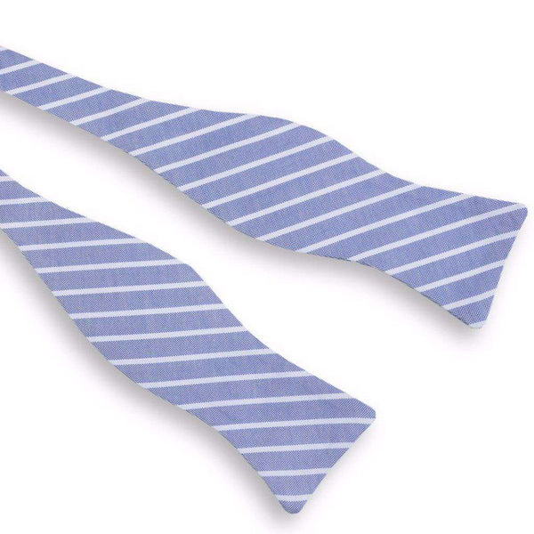 Beacon Stripe Bow Tie in Navy by High Cotton