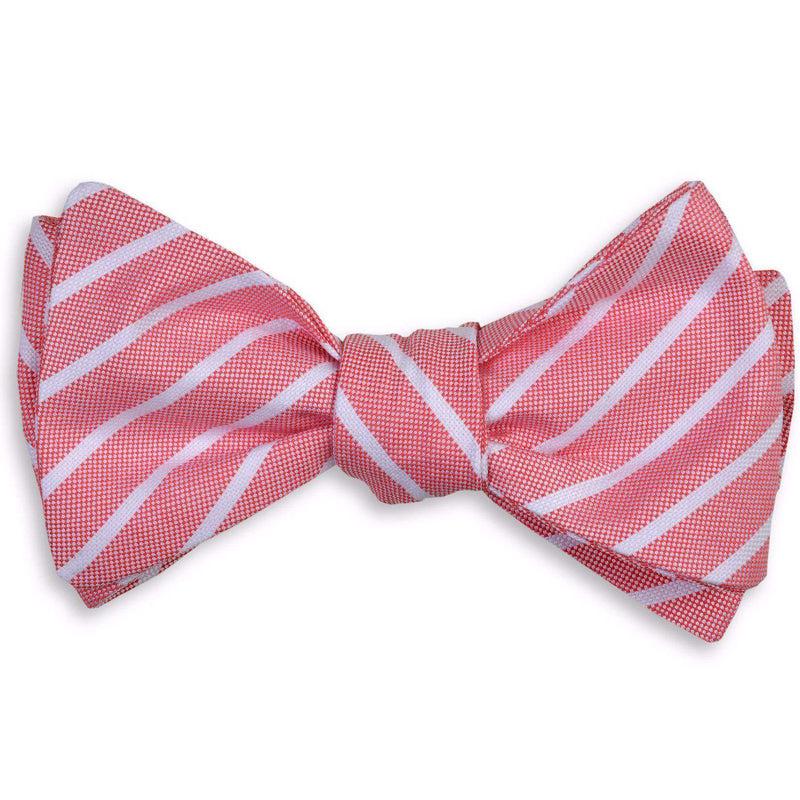 Bow Ties - Beacon Stripe Bow Tie In Red By High Cotton