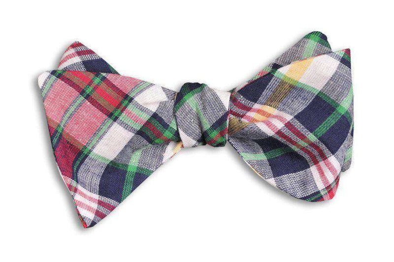 Bow Ties - Belmont Madras Bow Tie By High Cotton