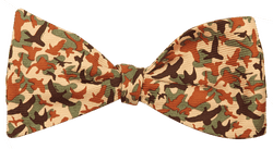 Bow Ties - Bird Camo Bow Tie In Green By Southern Proper