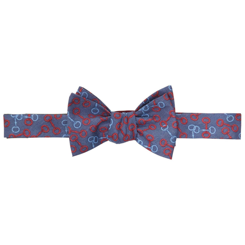 Bow Ties - Bit O' Derby Bow Tie In Navy And Red By Southern Proper