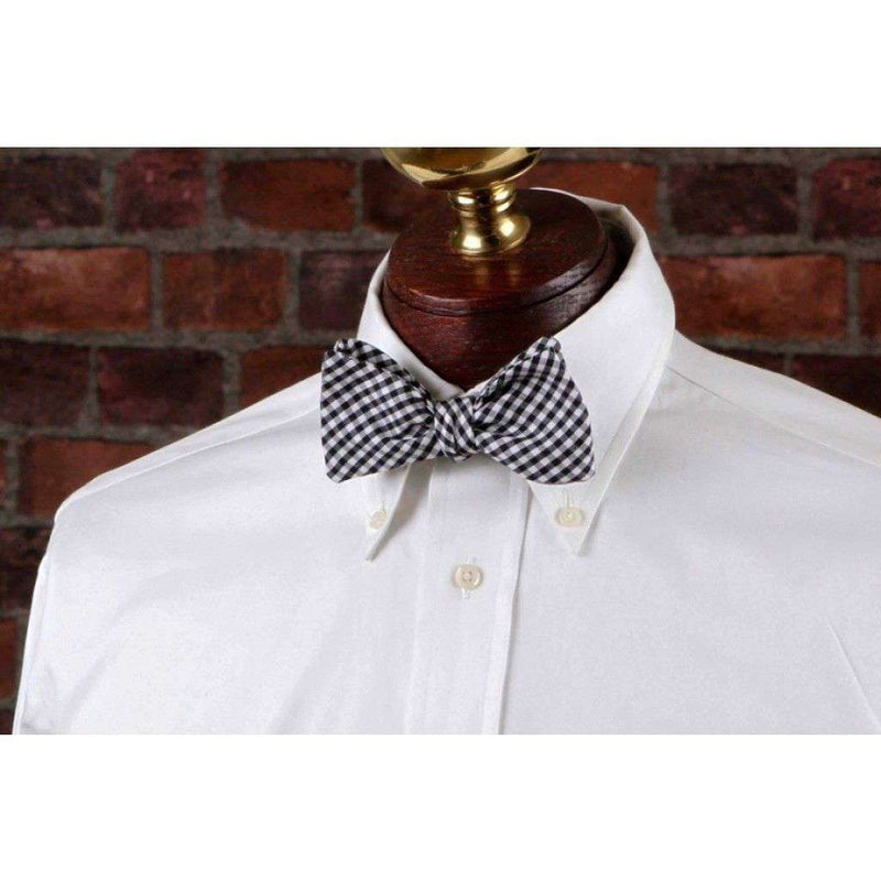 Bow Ties - Black Gingham Bow Tie In Black And White By High Cotton