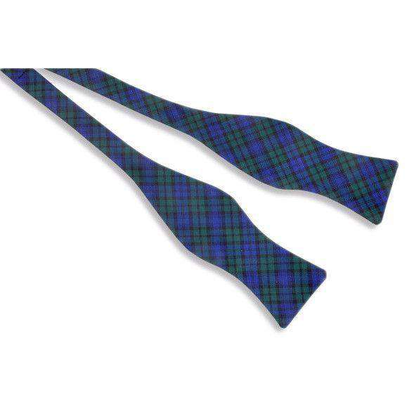 Black Watch Bow Tie in Green & Navy Plaid by High Cotton