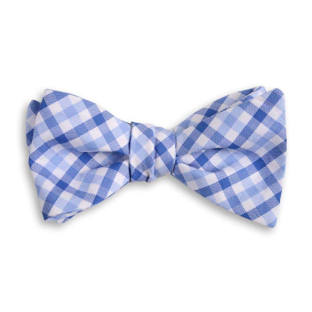 Bow Ties - Blake Check Bow Tie In Blue By High Cotton