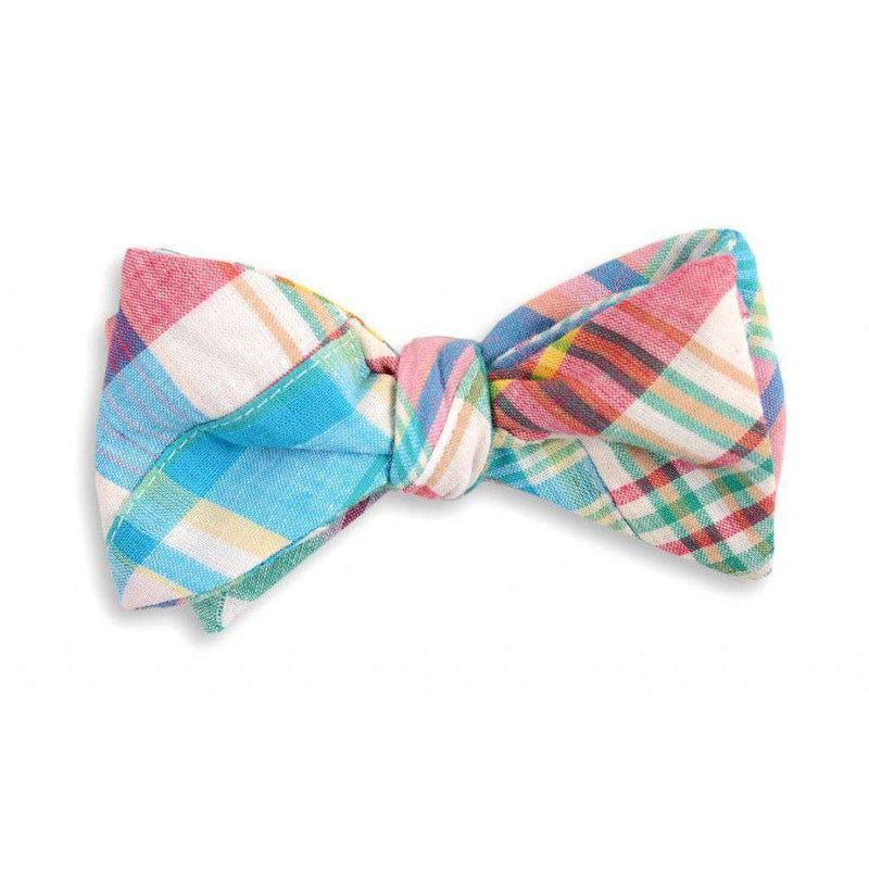 Bow Ties - Boardwalk Patchwork Madras Plaid Bow Tie By High Cotton