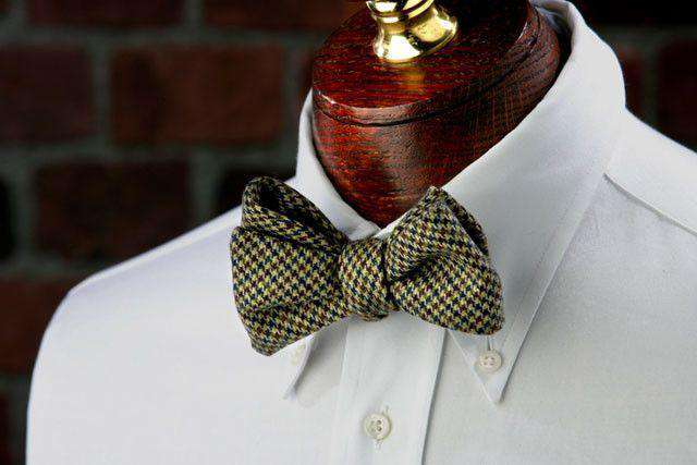 Bow Ties - Booker Woolie Bow Tie In Burgundy, Blue And Tan By High Cotton