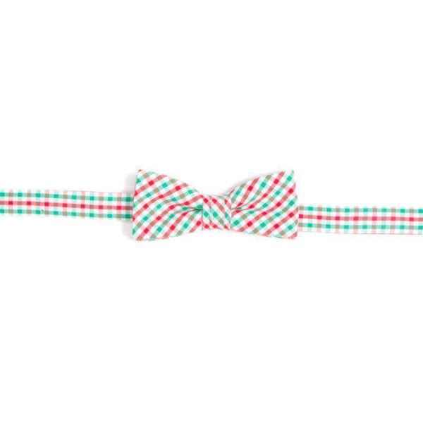 Bow Ties - Boy's Christmas Tattersall Bow Tie In Red & Green By High Cotton