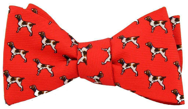 Bow Ties - Brittany Spaniel Bow Tie In Red By Southern Proper