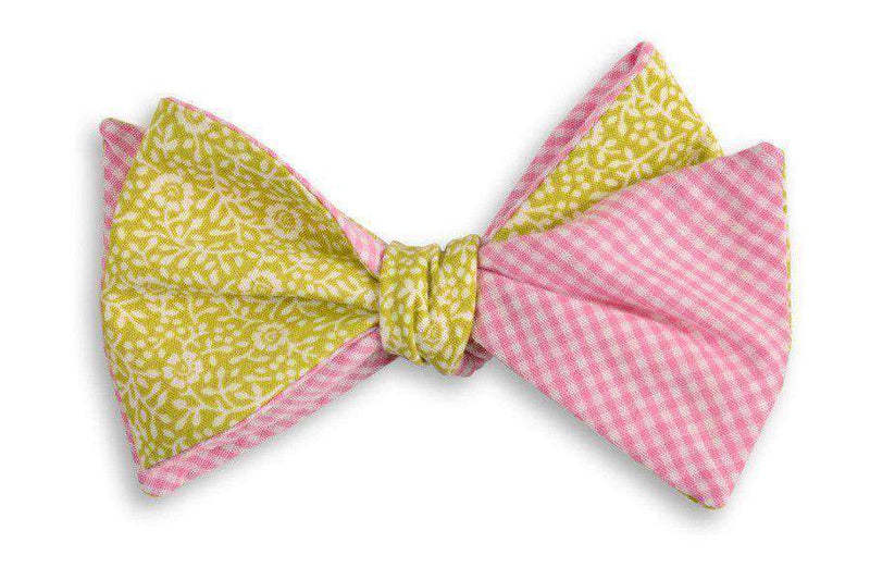 Bow Ties - Brookgreen Floral Reversible Bow Tie By High Cotton