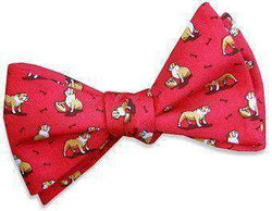 Bow Ties - Bulldog Bonanza Bow Tie In Red By Bird Dog Bay