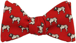Bow Ties - Bulldog Bow Tie In Red By Southern Proper