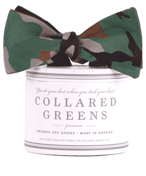 Bow Ties - Camo Bow In Green By Collared Greens