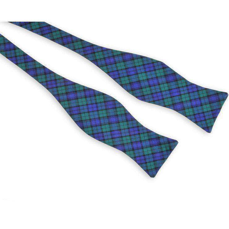 Campbell Tartan Bow Tie in Navy and Green by High Cotton