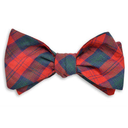 Carr Bow Tie in Red, Green and Navy Tartan by High Cotton