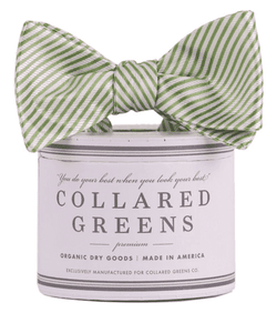 Bow Ties - CG Stripes Bow In Green By Collared Greens