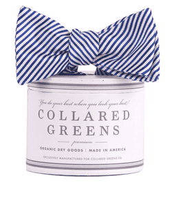 Bow Ties - CG Stripes Bow In Navy By Collared Greens