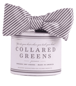 Bow Ties - CG Stripes Bow In Wolf Grey By Collared Greens