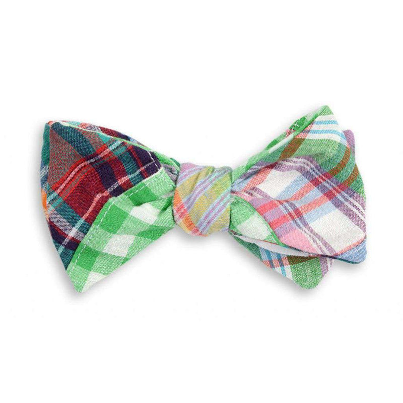 Bow Ties - Chatham Patchwork Madras Plaid Bow Tie By High Cotton - FINAL SALE