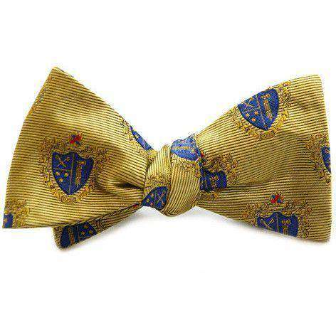 Bow Ties - Chi Phi Bow Tie In Gold By Dogwood Black