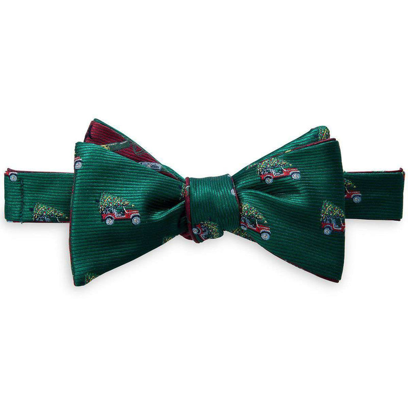 Christmas Jeep Reversible Bow Tie in Green by Southern Tide
