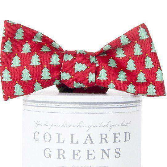 Christmas Trees Bow Tie in Red by Collared Greens