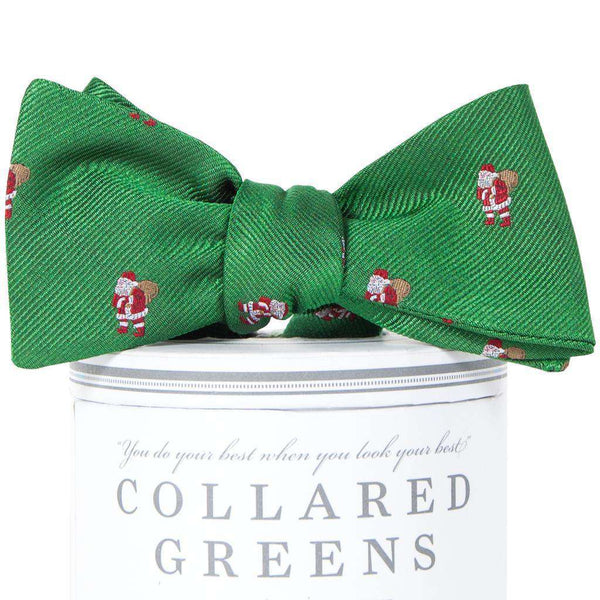 Classic Santa Bow Tie in Holly Green by Collared Greens
