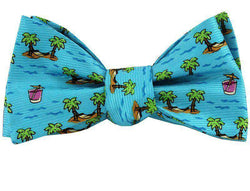 Bow Ties - Cocktail And Hammock Bow Tie In Turquoise By Southern Proper