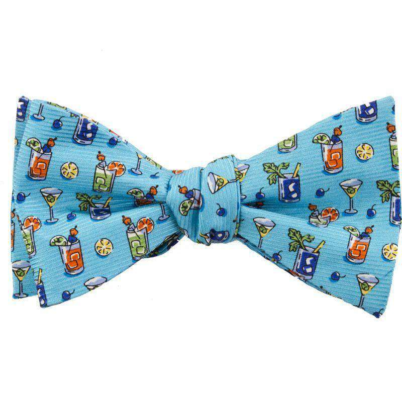 Bow Ties - Cocktail Hour Bow Tie In Turquoise By Southern Proper