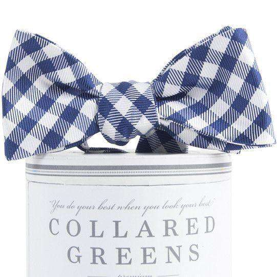 Bow Ties - Collegiate Quad Bow Tie In Navy And White By Collared Greens