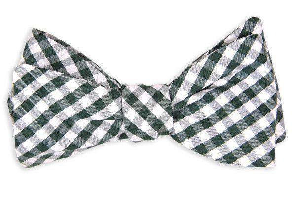 Bow Ties - Country Day Green Check Bow Tie By High Cotton