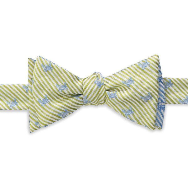 Bow Ties - Crab/Skipjack Seersucker Bow Tie In Summer Green And Ocean Channel By Southern Tide