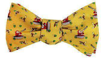 Bow Ties - Crack Shot Kringle Bow Tie In Gold By Bird Dog Bay