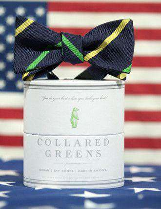 Bow Ties - Cushing Bow In Green/Yellow By Collared Greens