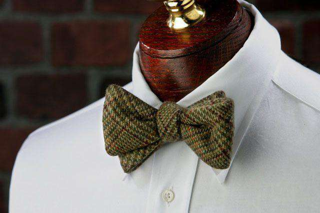 Bow Ties - Darden Woolie Bow Tie In Brown And Green By High Cotton