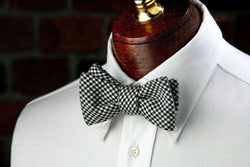 Bow Ties - Davidson Houndstooth Bow Tie In Black And White By High Cotton