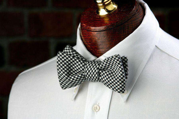 Davidson Houndstooth Bow Tie in Black and White by High Cotton