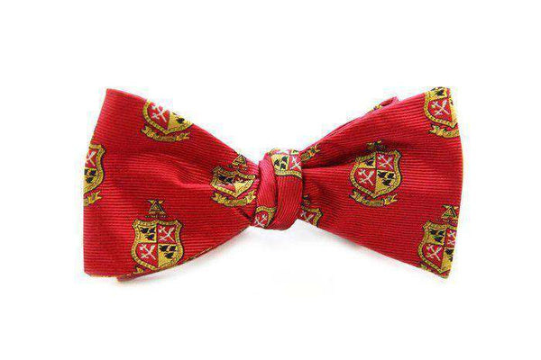 Bow Ties - Delta Chi Bow Tie In Red Buff By Dogwood Black
