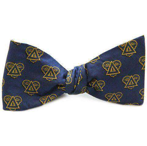 Delta Upsilon Bow Tie in Navy by Dogwood Black - FINAL SALE