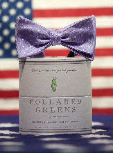 Bow Ties - Dots Bow In Lavender By Collared Greens