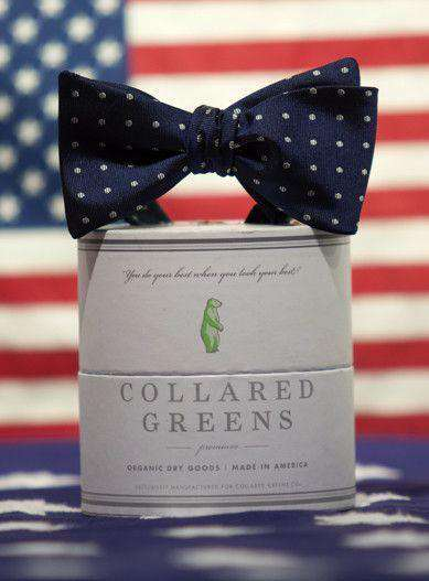 Bow Ties - Dots Bow In Navy By Collared Greens