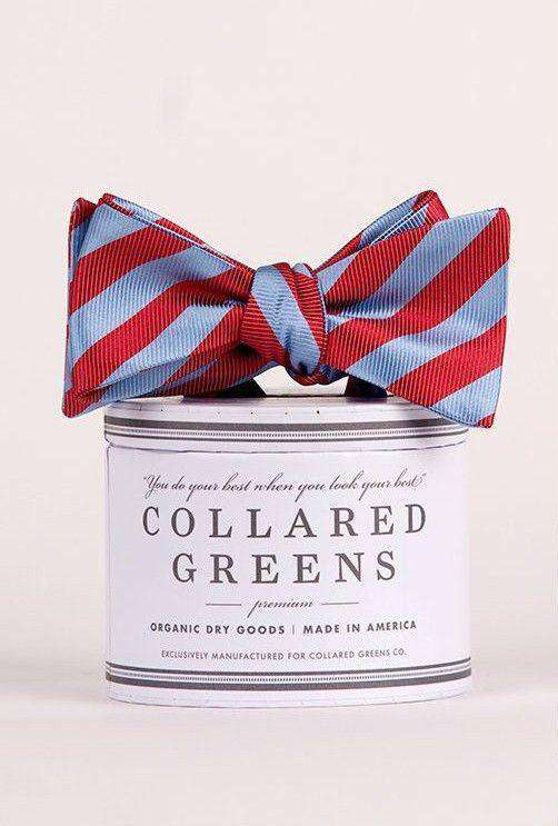 Bow Ties - Double Haul Bow In Blue And Red By Collared Greens