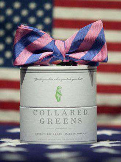 Bow Ties - Drake Bow In Blue/Pink By Collared Greens