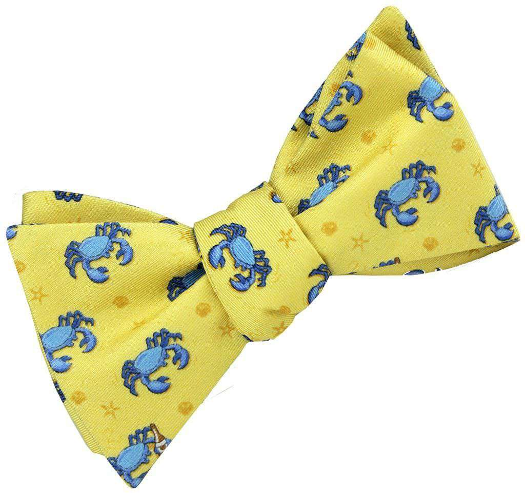 Bow Ties - Drunken Crab Bow Tie In Pale Yellow By Bird Dog Bay