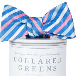 Bow Ties - Eastwood Bow Tie In Blue & Pink By Collared Greens