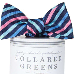 Eastwood Bow Tie in Navy & Pink by Collared Greens