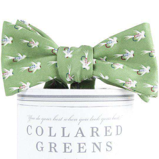 Flies Bow Tie in Green by Collared Greens