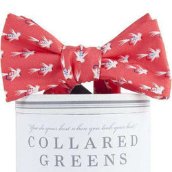 Flies Bow Tie in Salmon by Collared Greens