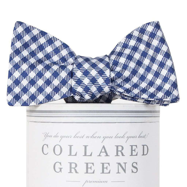 Gameday Bow Tie in Navy and White by Collared Greens