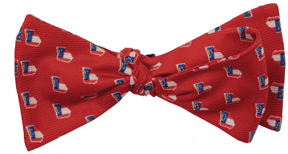 Bow Ties - Georgia Traditional Bowtie In Red By State Traditions And Southern Proper